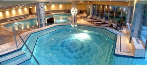 Indoor pool at spa center, Radisson Blu Resort & Hotel, Baden Baden, Germany