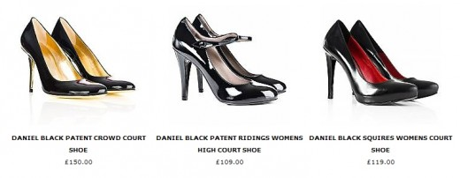 Black heels from Daniel Footwear