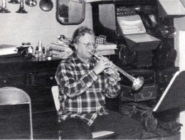 Bud Herseth practicing at home.