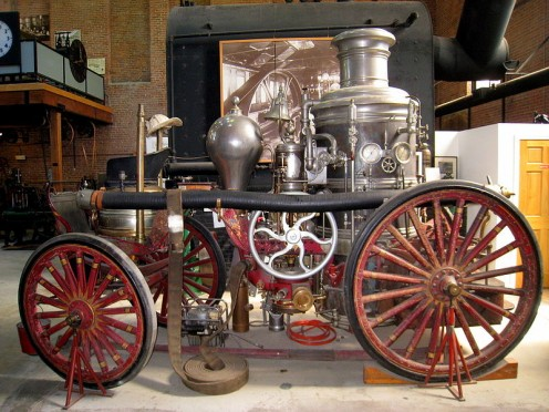 Steam Fire Engine used in Waltham 1871 - 1930+.
