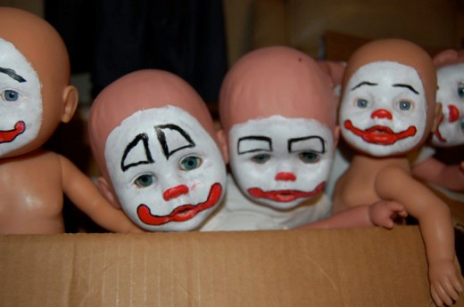 All eight babies were hand-painted by Ross.