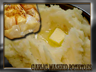 Mashed potaoes with a flare of sweet garlic