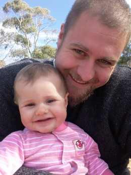 My son Adam with daughter Lily