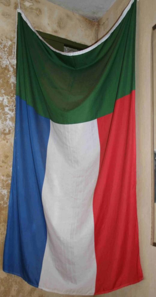 "The ""Vierkleur"" (Four-colours), national flag of the ZAR."