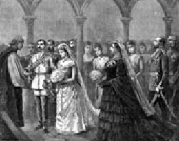 The Wedding of Queen Victoria to Prince Albert, broke the royal-wedding mold in more ways than one!