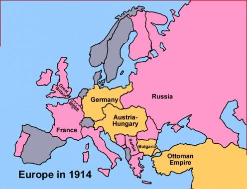 Mapa do Império Austr-Húngaro