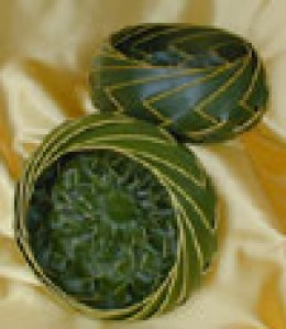 Palm fronds used to weave baskets and hats