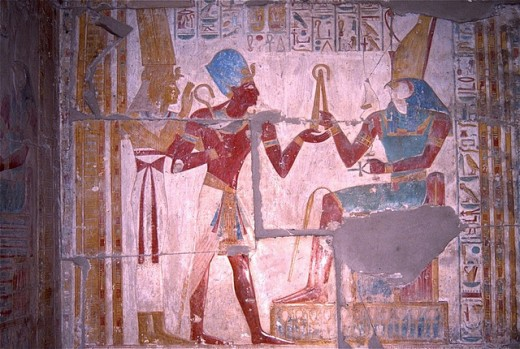 Ancient Egyptian drawing which is found in almost every monuments of Egypt.