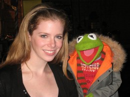 Kermit and friend  clubbing in Aspen.