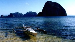Imagine taking an eco-tour of the Philippines in a boat like this with minimum impact and maximum contact with nature.