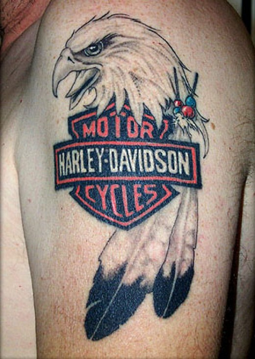 The third of my Harley Davidson Tattoos is just one beautiful tattoo design,