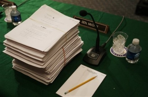 The volumes of the Healthcare bill 2010