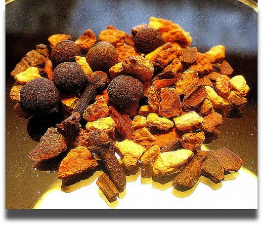 Traditional Mulling Spices:  Cinnamon, Nutmeg, Star Anise