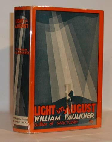 Some of the older copies of Faulkner's works are beautiful displays of the Modernist aesthetic, like the one above.