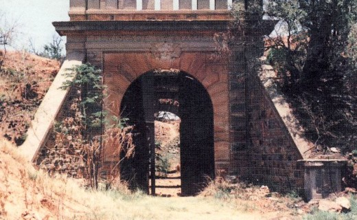 "The entrance gate to Fort Daspoort in 1989. Photo by F.T. Dreyer, from ""The Military Fortifications of Pretoria 1880 - 1902"""