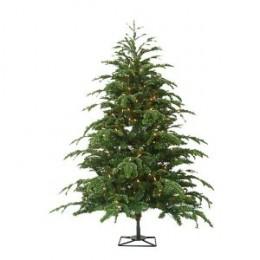 Barcana Star Fir PE/PVC Ready-Trim Christmas Tree with Clear Mini Lights
