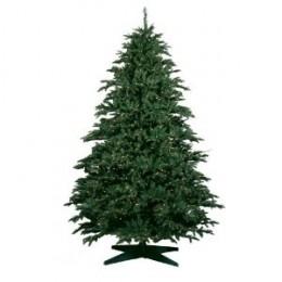 Barcana 9-Foot Alaskan Deluxe Fir PE/PVC Ready-Trim Christmas Tree with 1350 Clear Mini Lights