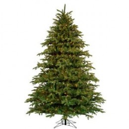 Barcana Alaskan Fir Deluxe Christmas Tree with Clear and Multi Mini Lights