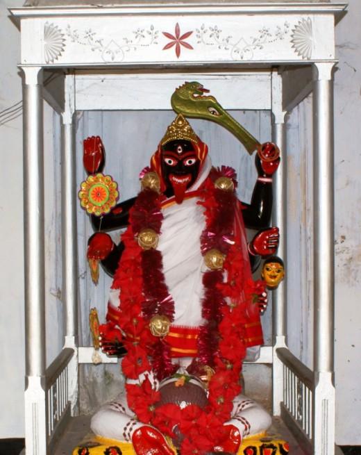 Thye idol of Ananda Bhairabi Kali