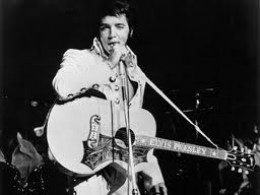 Elvis Presley always used either a Gibson or a Martin guitar.