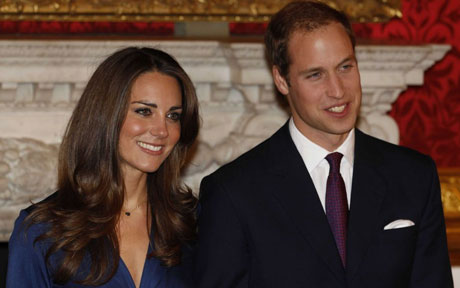 Royal bride-to-be Kate Middleton with fiance Prince William.