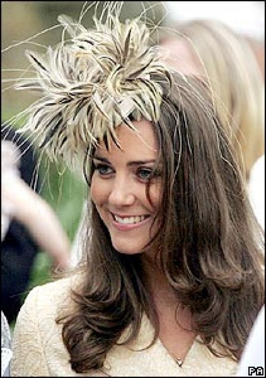 Kate wears dramatic hats as only an Englishwoman can!