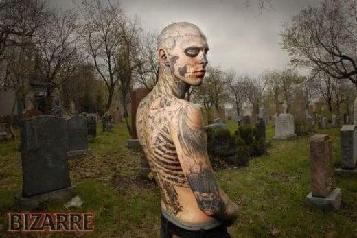 Rick the Ultimate Bizarre Tattoo Zombie Boy