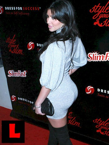 Kim Kardashia is always rocking  thigh highs it seems.