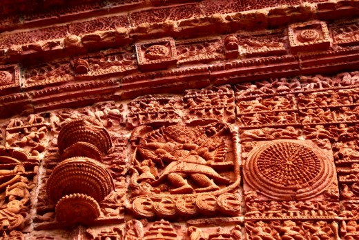 Terracotta decorations of Ramchandra temple
