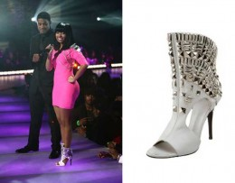 Nicki Minaj is rocking Giuseppe's peep-toe booties