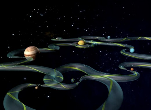 The Space super highway exists as a easy and cheap way of space travel and it shifts according to the positions of the planets, It has been successfully used by NASA for deep space probes.