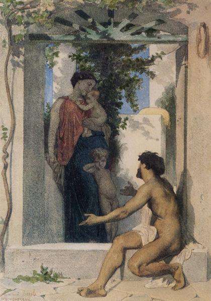William-Adolphe Bouguereau (1825-1905) - Roman Charity