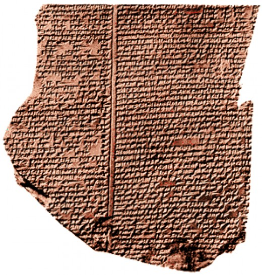 This is one of the oldest surviving copies of Gilgamesh we have.  It is just a fragment of a stone tablet.  It dates to 2000 BCE, around 700 years after Scholars date the life of Gilgamesh.