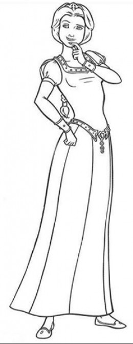 Free Coloring Pages Of Princess Fiona Mask Princess Fiona Coloring Page Printable