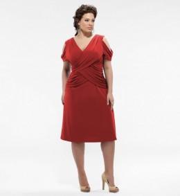 Kiyonna Plus Size Alexandra Gathered Dress