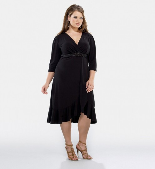 Kiyonna Clothing Plus Size Charlotte Cocktail Dress