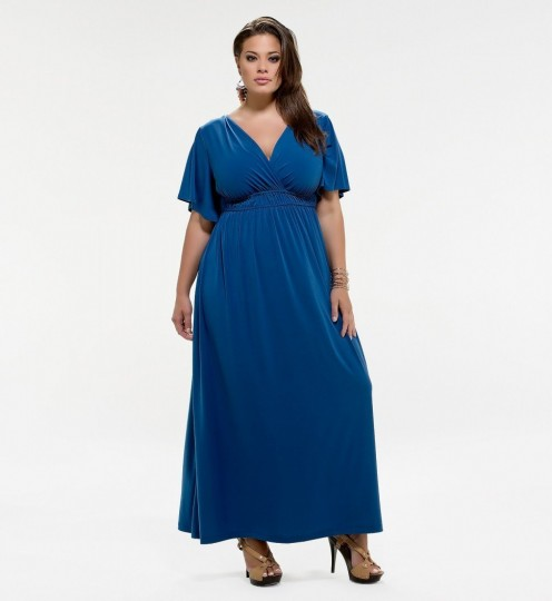 Kiyonna Plus Size Grecian Maxi Dress