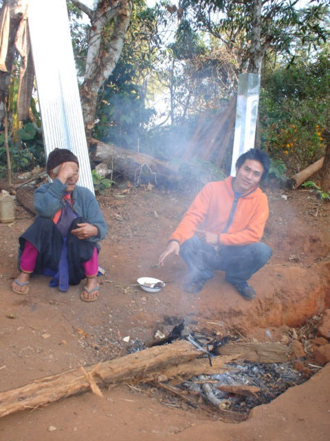 This is one of the areas behind the house where they heat tea and cook food.