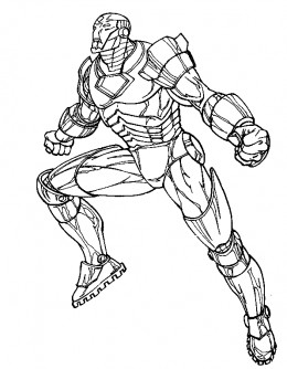 Iron  Coloring Pages on Kids Coloring Pages With Free Colouring Pictures To Print Of Iron Man