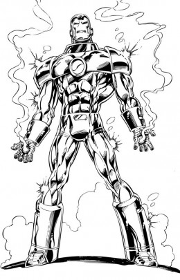 Ironman 2 Kids Coloring Pages with Free Colouring Pictures to Print of Iron Man