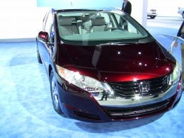 Honda's rare Clarity model powered with a hydrogen fuel cell.
