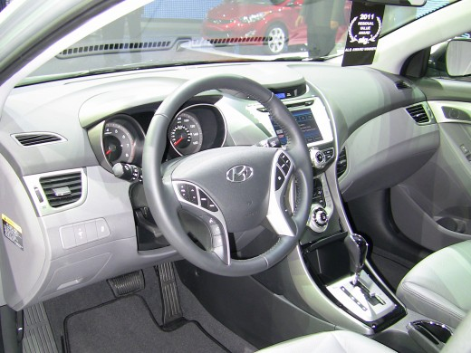 The stylish dash of the new 2011 Elantra