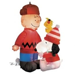 ... Charlie Brown Snoopy Inflatable Christmas Yard Outdoor Decorations