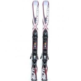 Atomic ETL 123 Skis Skiboards Short Skis White/Red Release Bindings
