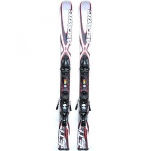 Atomic ETL 123 Skis Skiboards Short Skis White/Red Release Bindings