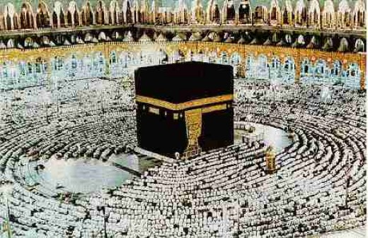 The Kaaba in Mecca, the holiest site in Islam, during the annual Hajj