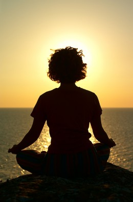 Guided imagery and relaxation, or meditation is helpful.