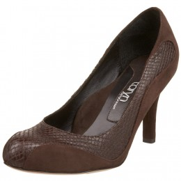 Taryn by Taryn Rose Women's Hallow Snake And Suede Pump