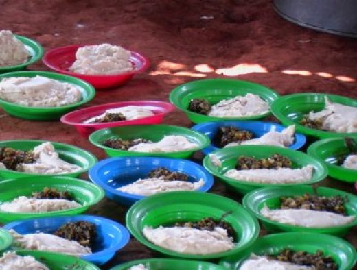 Lunch in an orphanage in Africa