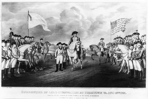 Surrender of Lord Cornwallis at Yorktown.